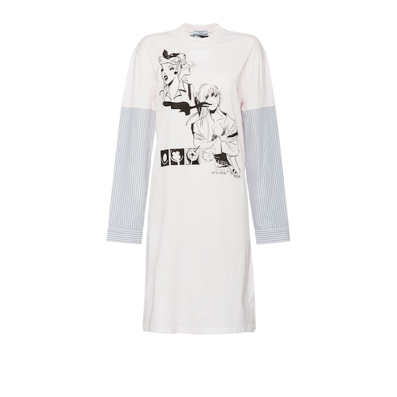 Emma print maxi T-shirt dress