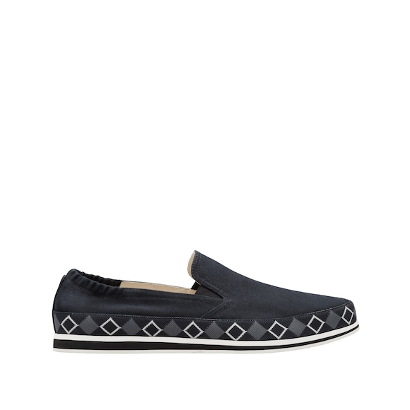 Cotton slip-on shoes