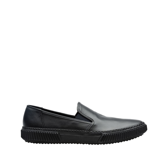 Calf leather slip-on sneakers