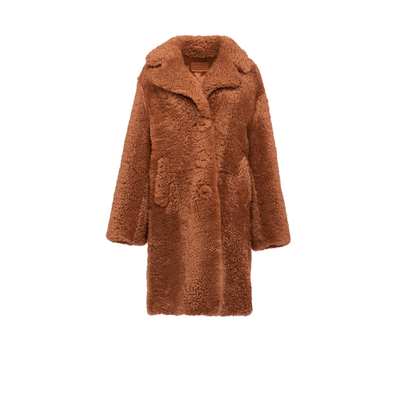 Single Breasted Sheepskin Jacket