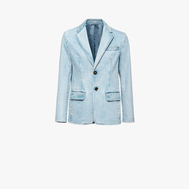 Single-breasted denim blazer