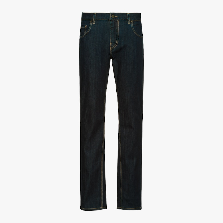 Five-pocket light denim trousers