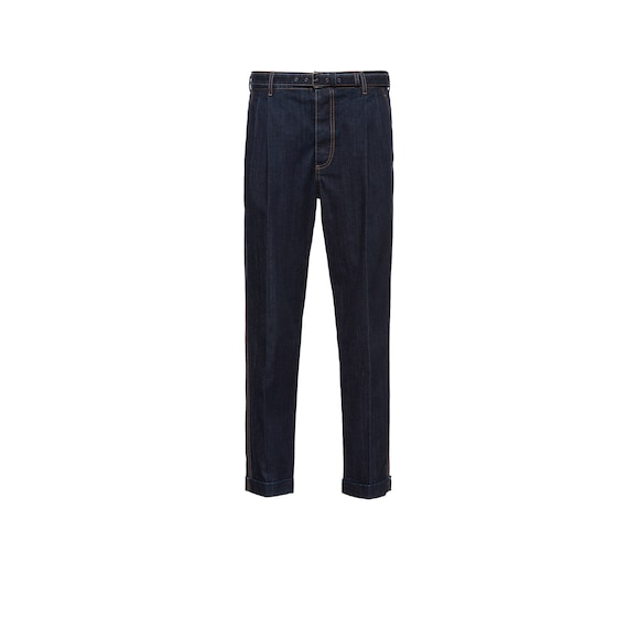 Loose-Fit-Jeans aus leichtem Denim