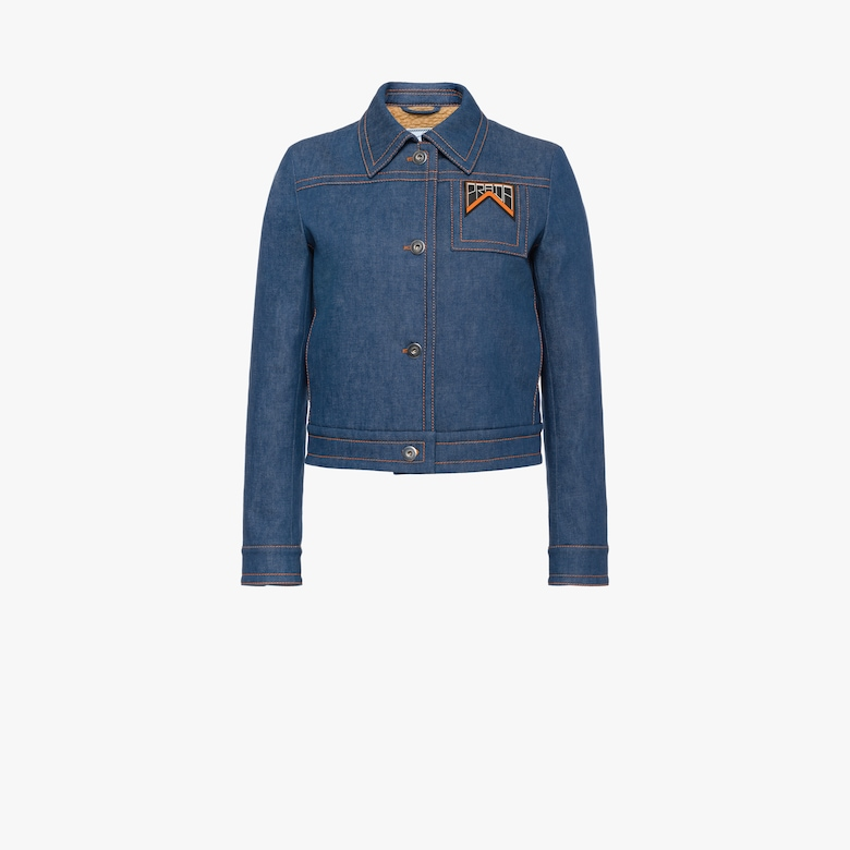 Compact raw denim jacket