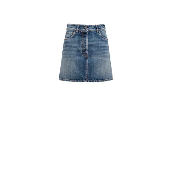 Mini-jupe en denim vintage