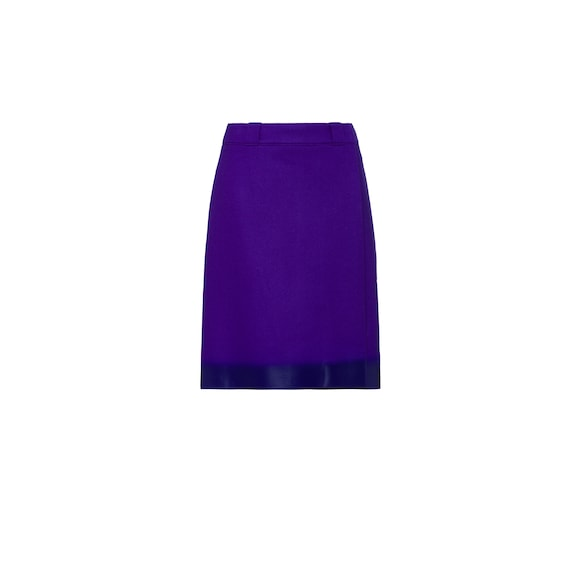 Rubberized cloth wraparound skirt