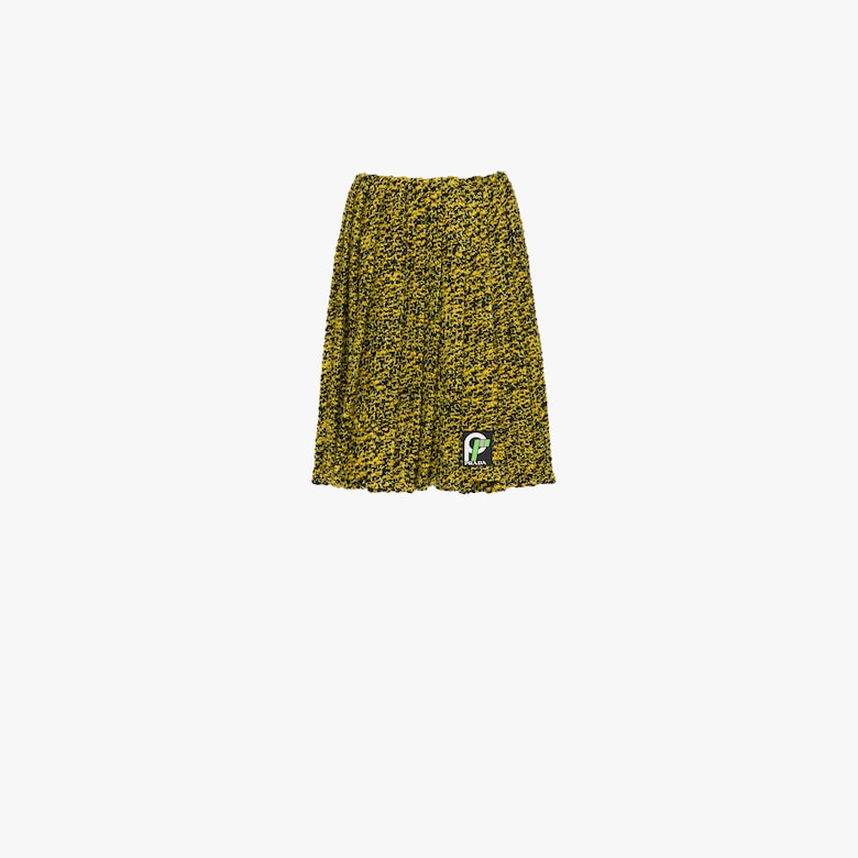 Pleated knickerbocker fabric skirt