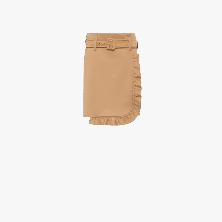 Technical jersey skirt with ruching