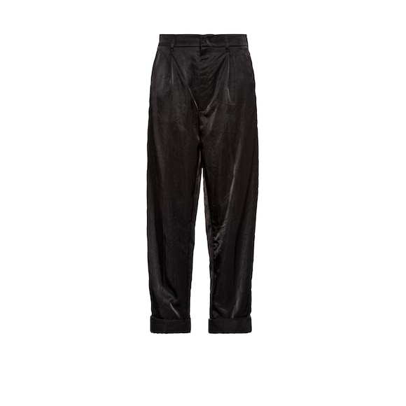 Technical satin trousers