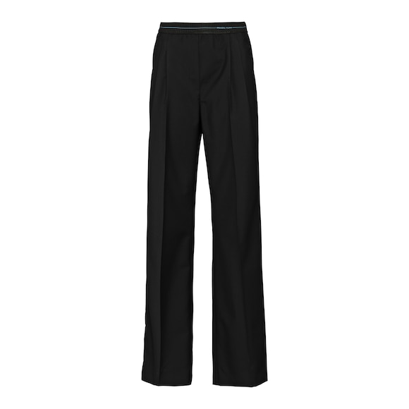 Mohair fabric trousers