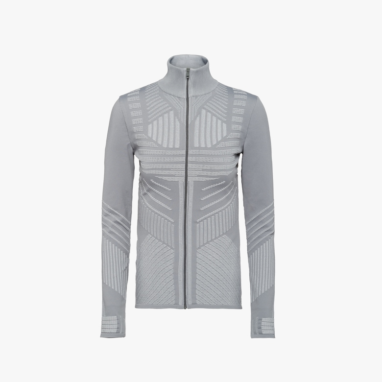Technical nylon cardigan
