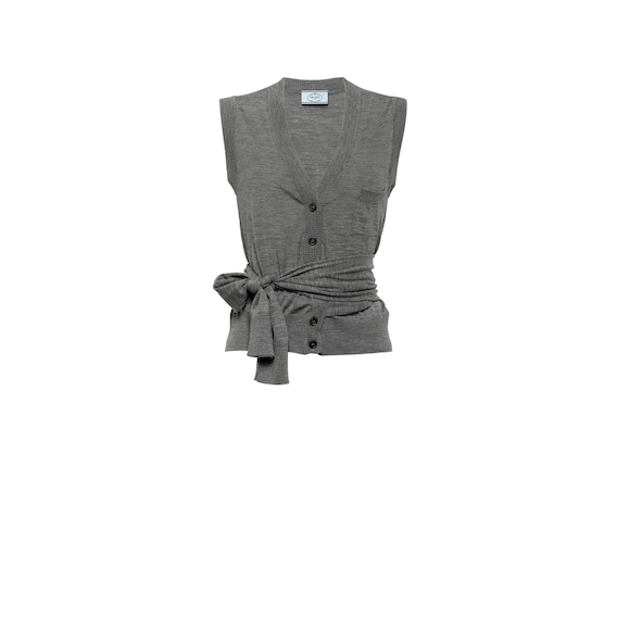 Worsted wool vest