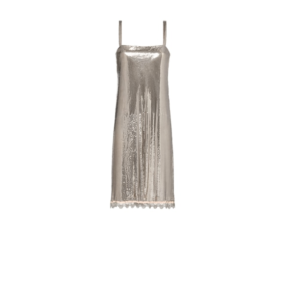 Metallic mesh dress