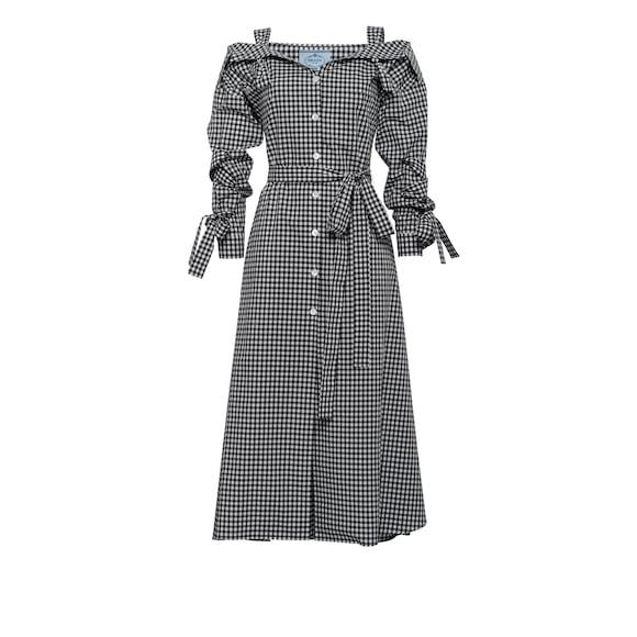 Robe chemise en popeline de coton