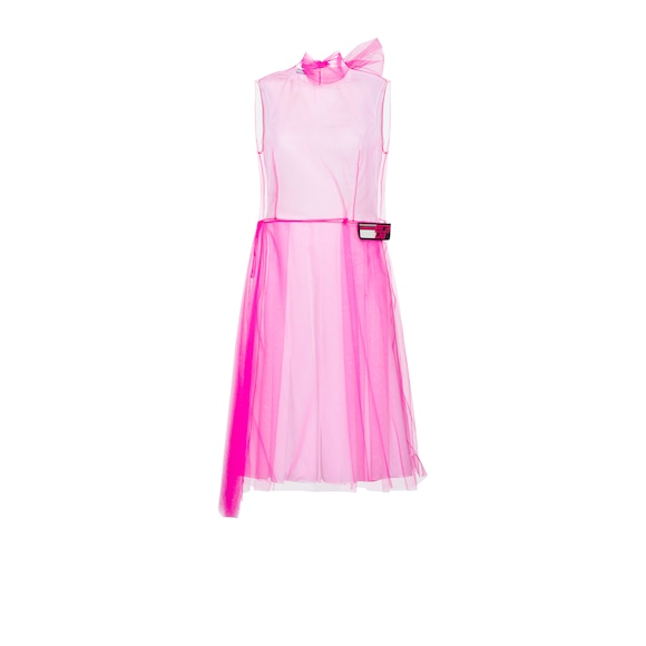 Poplin and tulle dress