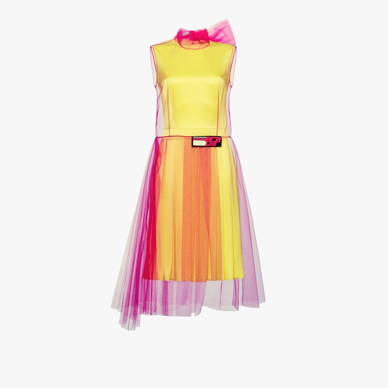 Tulle and silk satin dress