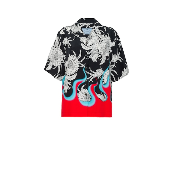 Pongé Hawaiian shirt
