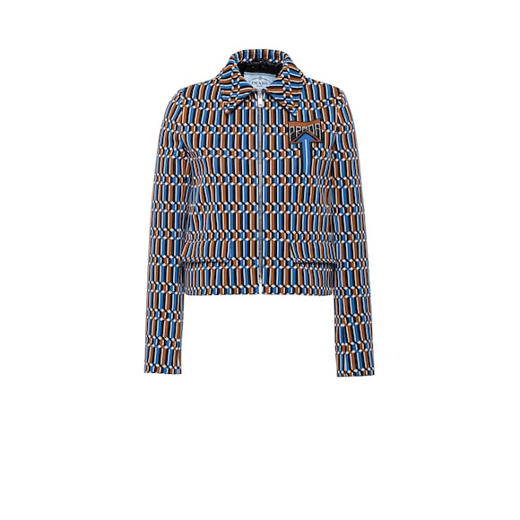 Technical jacquard jacket