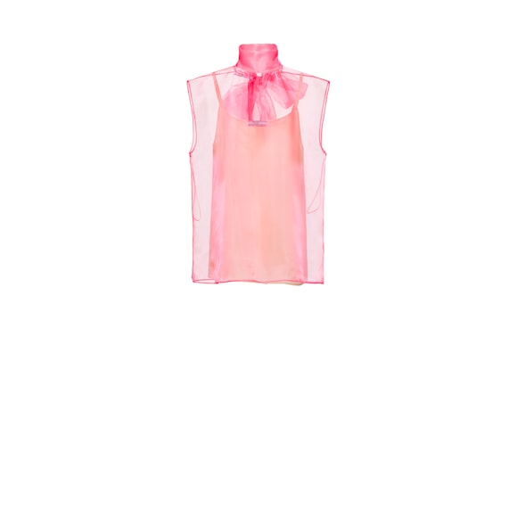 Technical organza top