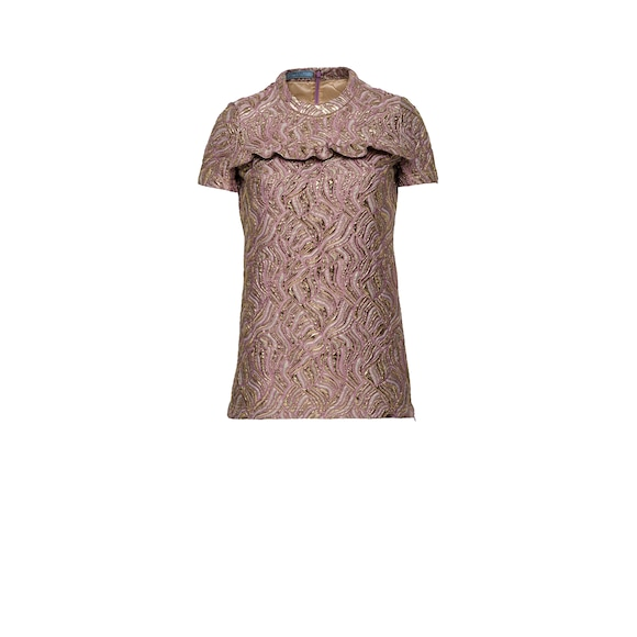 Short-sleeved  fabric top