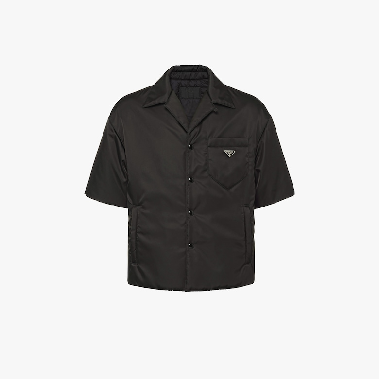 Padded nylon gabardine shirt