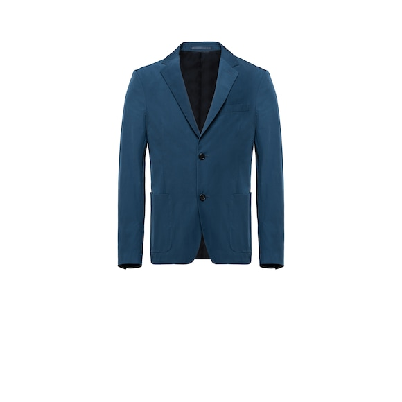 Single-breasted gabardine blazer