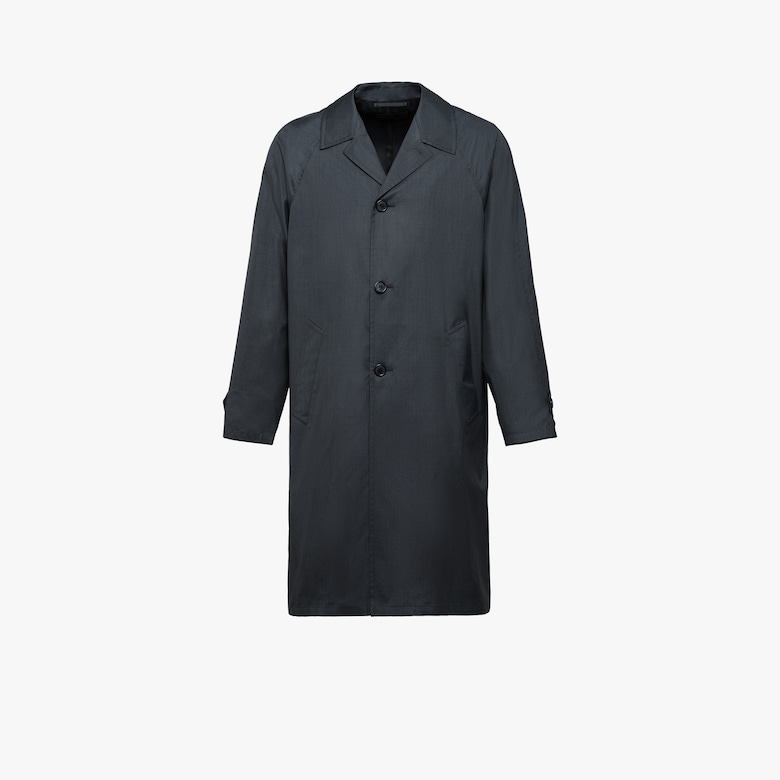 Wool and silk overcoat