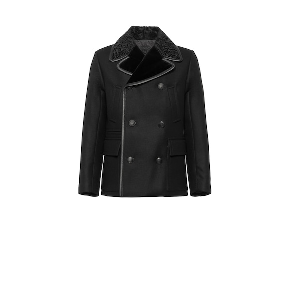 Wool cloth peacoat