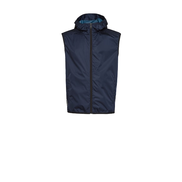 Hooded nylon vest