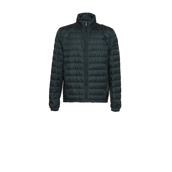 Technical eggshell puffer jacket