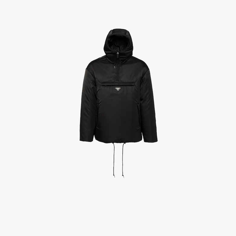 Padded nylon gabardine jacket