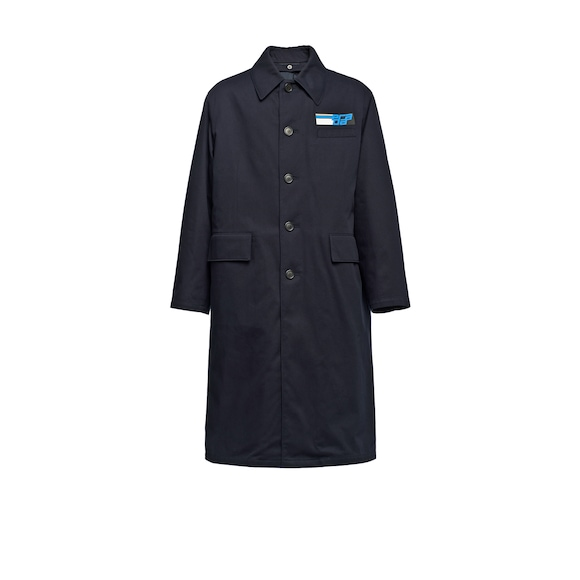 Padded cotton drill coat