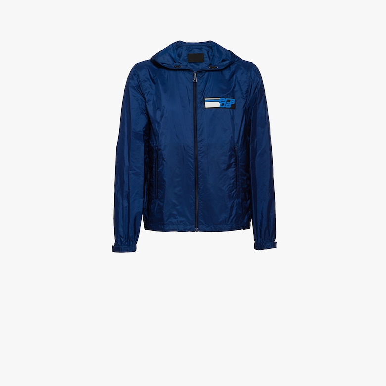 Nylon-Windbreaker mit Kapuze