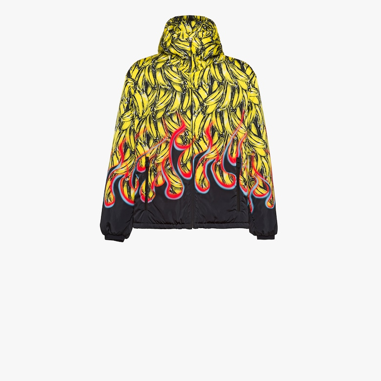 Padded printed nylon jacket