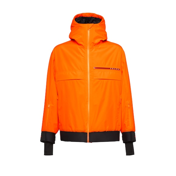 Technical fabric snowboard jacket