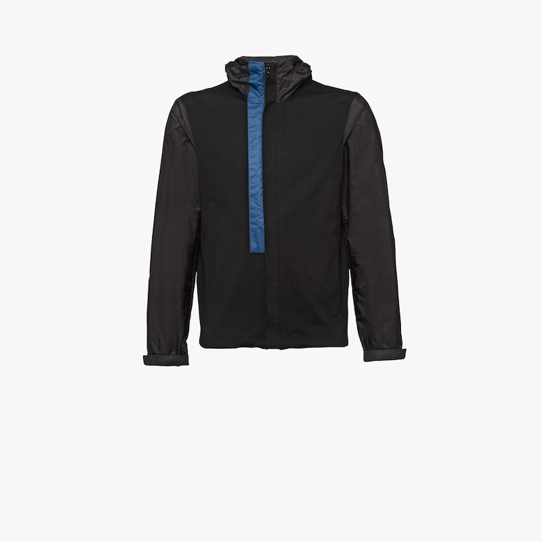 Cotton and nylon jersey jacket
