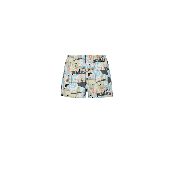 Printed cotton boxer shorts