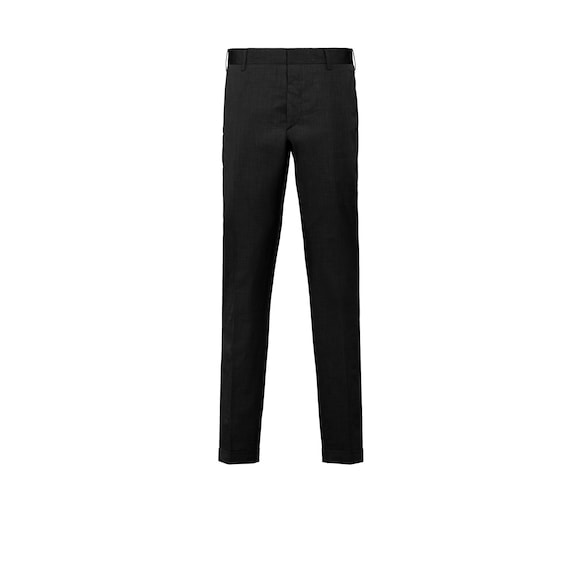 Fil-à-fil cotton trousers
