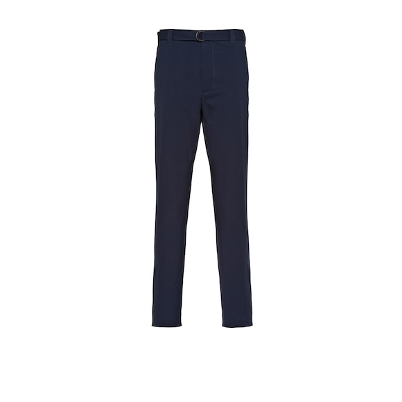 Washed cotton gabardine trousers