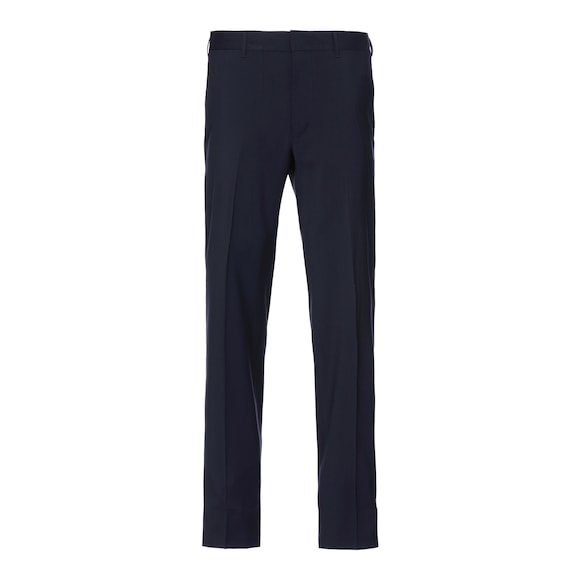 Wrinkle-free wool trousers