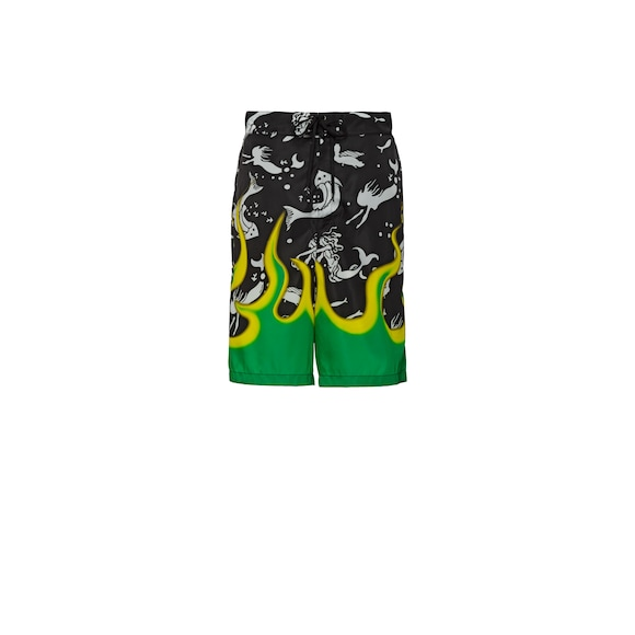 Nylon gabardine swim trunks