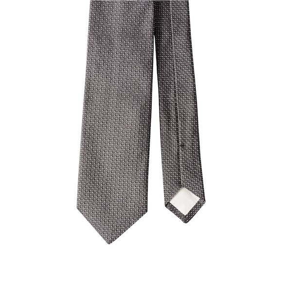 Corbata con microestampado gris