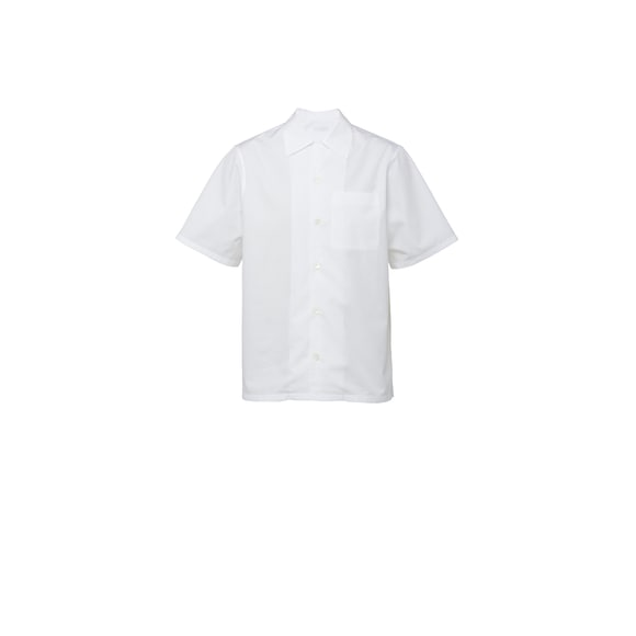 Short-Sleeved Light Poplin Shirt