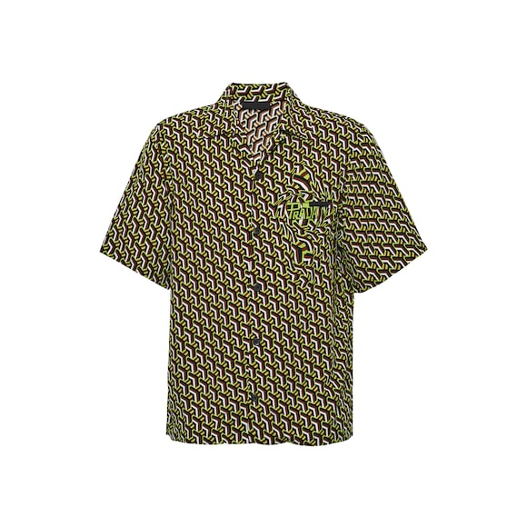 Short-sleeved pongé shirt