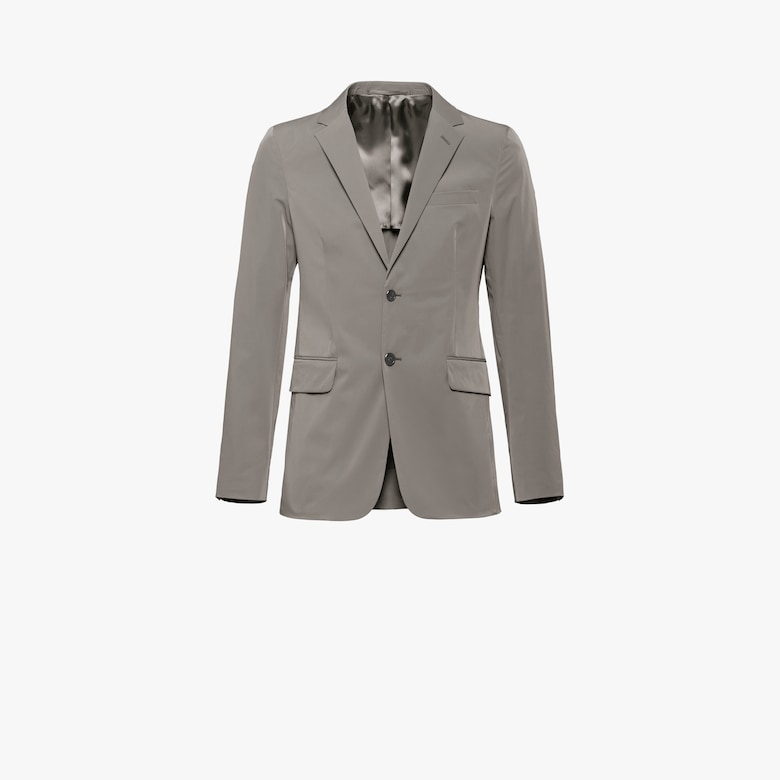 Technical poplin blazer