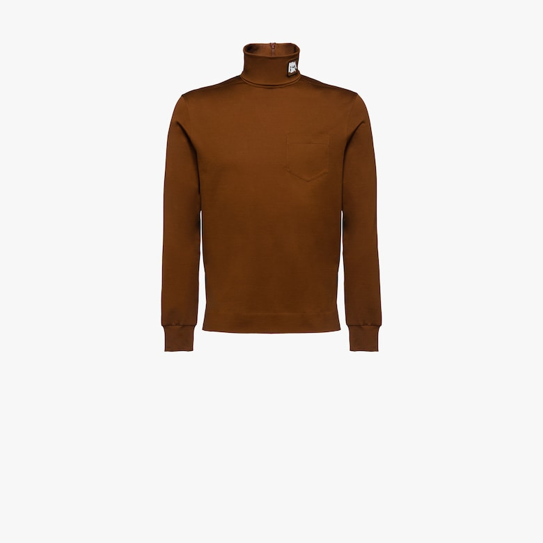 Cotton jersey turtleneck