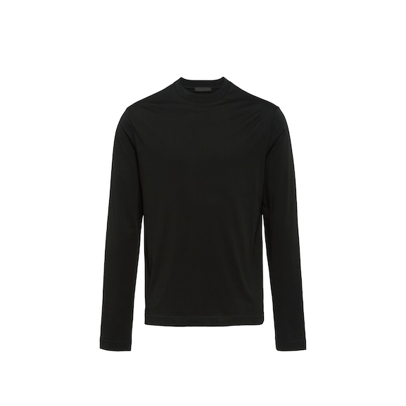 Long-sleeved jersey T-shirt