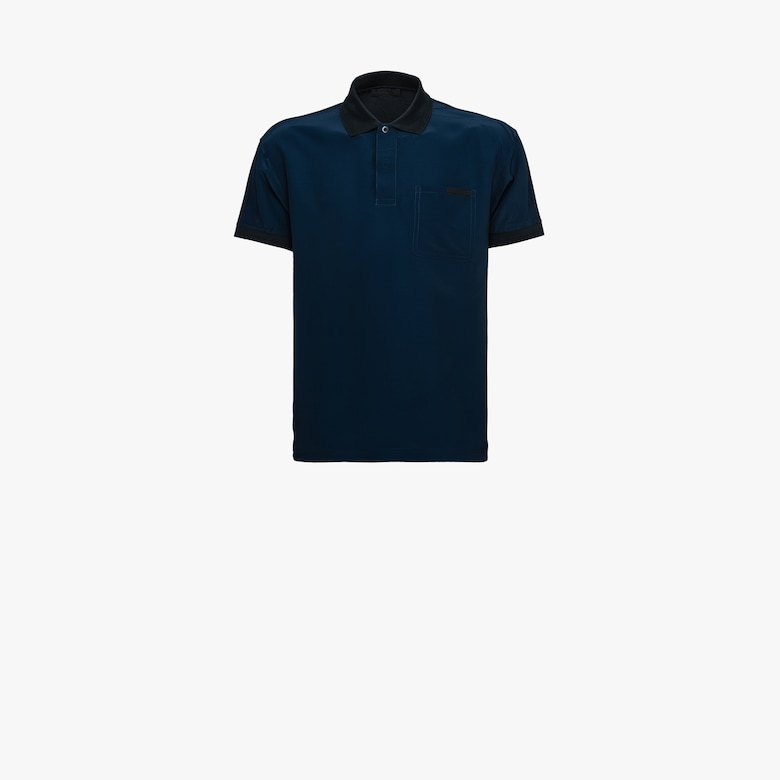 Stretch cotton polo shirt