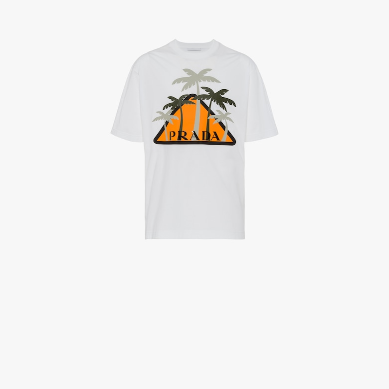 Jersey T-shirt with palms patch