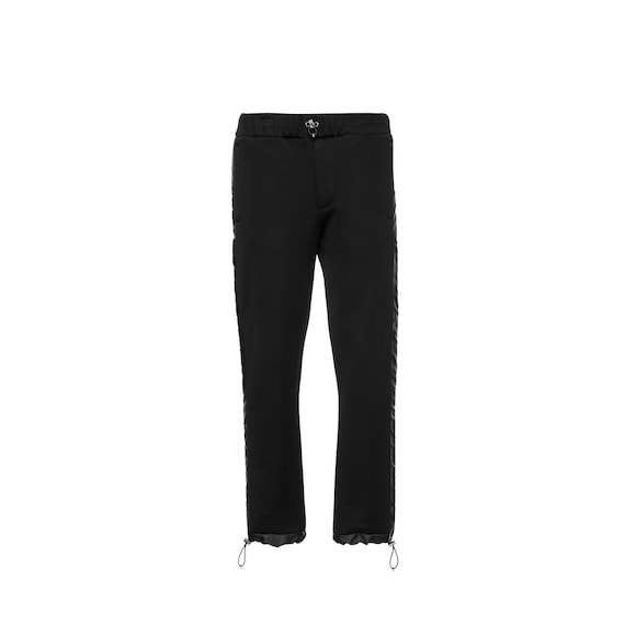 Technical cotton trousers with inserts